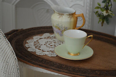 Genuine Old Vintage Hand Carved Wooden Serving Drinks Treen Tray - Shabby Chic