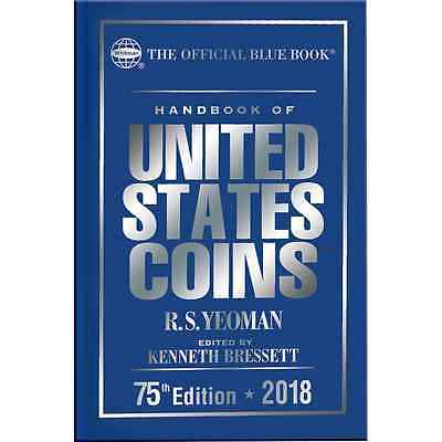 2018 Blue Book Of US Coins Hardcover Hard Cover Bluebook