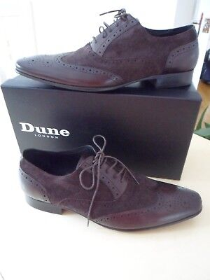 Dunes Brown suede and leather dress shoes   UK 11 EU 45