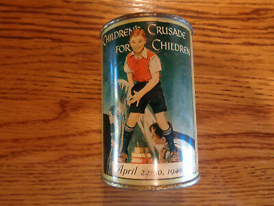 Children's Crusade for Children Collection Canister - 1940, collectibles Norman