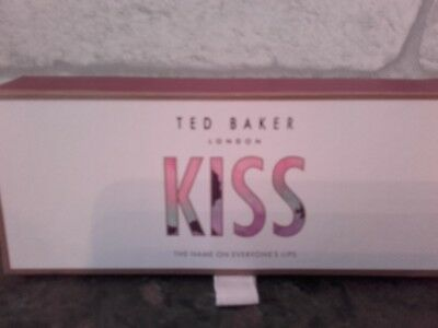 BNIB* Rose Gold Ted Baker Kiss - The Name On Everyone's Lips  Lip Balm Trio Gift