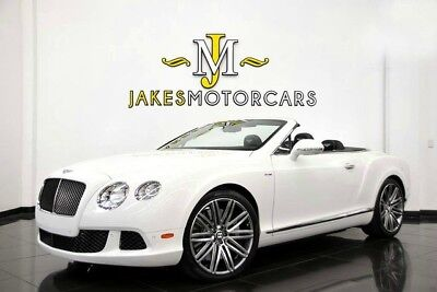 2014 Bentley Continental GT GTC Speed ($260,840 MSRP)....ONLY 7600 MILES 2014 CONTINENTAL GTC SPEED~ $260,840 MSRP!~ ONLY 7600 MILES~ WHITE ON BLACK