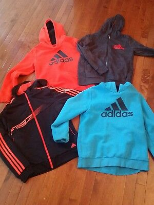 Lot of 4 boys adidas size 13/14 Youth hoodies