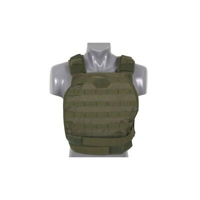 Plate Carrier Vest HARD, oliv - Airsoft Softair Weste Plattenträger