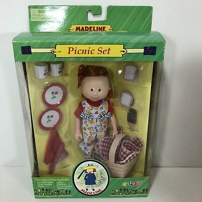 """Retired Eden 8"""" Madeline Doll Picnic Set Complete With Accessories New"""