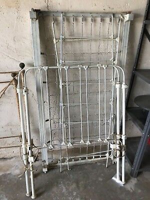 Baby Crib RARE 19th Century Vintage Antique Wrought Iron