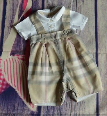 Burberry Baby Boy Or Girl Designer Summer Outfit 1 Month Newborn Excellent
