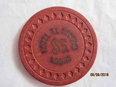 $5 El Rancho Vegas ERROR CHIP Las Vegas Casino Chip