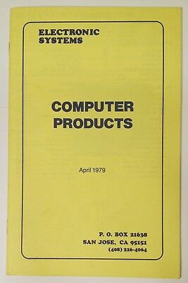 Vintage 1979 Electronic Systems Computer Products S-100 Apple II
