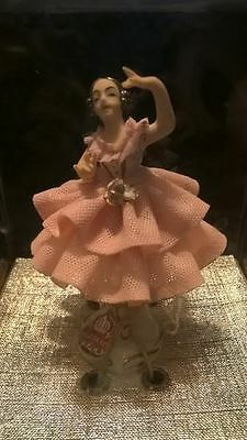 Beautiful Antique Dresden Ballerina Figurine, Mint Never Out of the Box