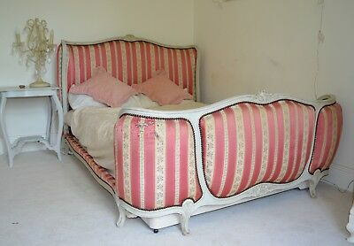 Stunning French Vintage Full Corbeille Double Bed- Louis XV Style- Rare