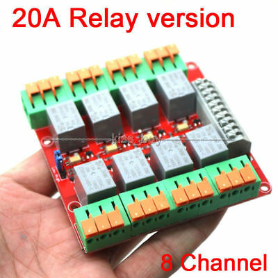 8 Channel 20A Relay Control Module for Arduino UNO MEGA2560 R3 Raspberry Pi