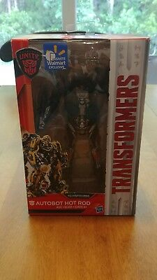 TRANSFORMERS THE LAST KNIGHT DELUXE CLASS AUTOBOT HOT ROD Walmart EXCLUSIVE