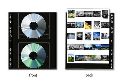 Print File Pkg 25 Archival CD/DVD & Contact Sheet Preserver Pages Pak-25 Sheets