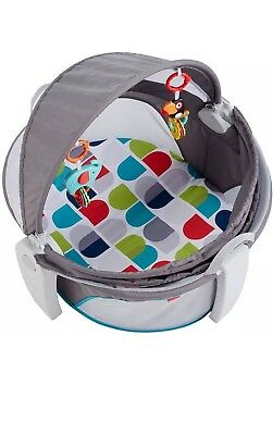 Fisher Price On the Go Baby Dome - Baby Bassinet - GREY -