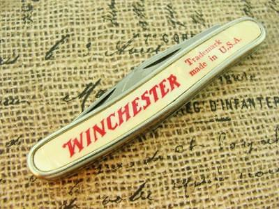 Vintage Colonial Usa Winchester Western Ad Folding Pocket Knife Hunting Knives
