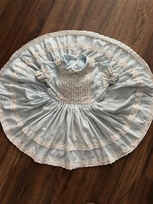 Vintage Girls Betty Oden Lace Twirl toddler Dress