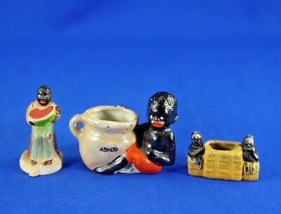 Small Lot of Vintage Black Americana Bisque Assortment