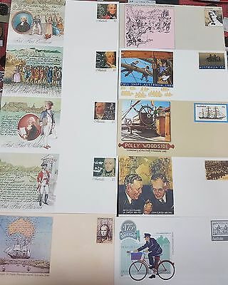 Stamps And Envelopes Of Australian Historical Mixed Lot Of 17