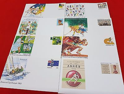 Stamps And Envelopes Of Australian Sport Events Lot Of 12