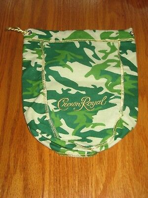 Crown Royal Green Camo Camouflage Limited Edition Bag Draw String Pouch