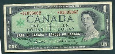 1967 Bank of Canada One Dollar- Replacement ( Star) note inv#p451