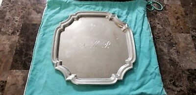 Tiffany & Co. Pewter Silver Candy Dish/Tray/Plate 11.5""
