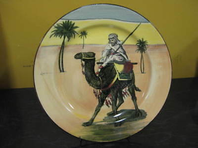 Royal Doulton Desert Scenes Hand Painted Plate Art Deco England Approx 26cm