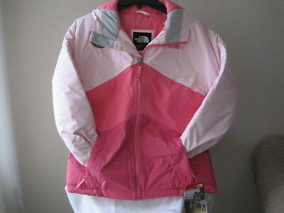 393758a3d5f5 Nwt-The North Face Girls Brianna Insulated Hooded Jacket Coy Pink L 14-16