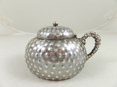 Dominick and Haff Aesthetic Sterling Mustard Pot 1880 - Pearling Surface