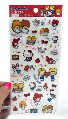 DAISO KAWAII 70's Sanrio Characters Mix Sticker Sheet MADE IN JAPAN Hello Kitty