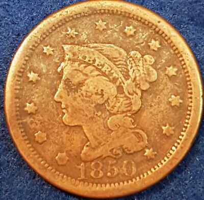 1850 United States Large Cent  ID #A8-11