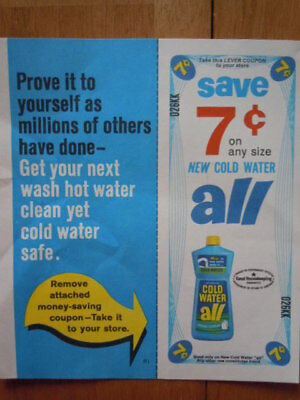 Vintage Cold Water All Laundry Detergent Coupon 1985