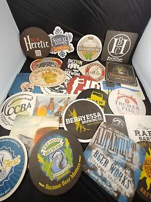 Beer Coasters Micro Brewery Collection Lot of 44 Mostly California