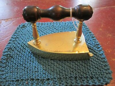 Vintage 18th to early 19th Century Brass CLOTHES IRON - EXCELLENT