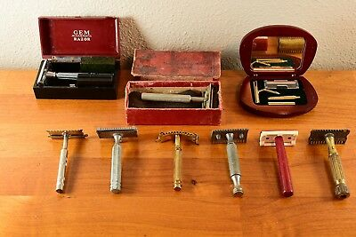 Safety Razor Lot Featuring Dandy, GEM, National, Valet, Ever-Ready, Rare and Odd