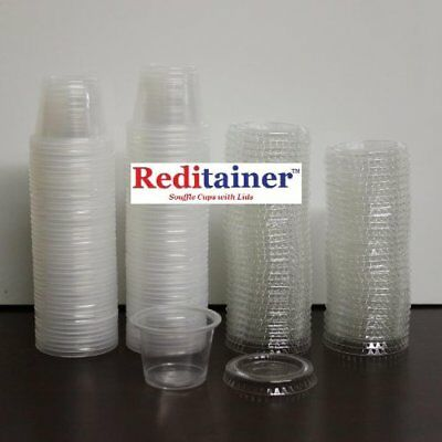 Reditainer Plastic Disposable Portion Cups, 5.5-Ounce, Pack of 100.