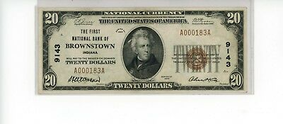 $20 1929 National Currency Note Charter 9143