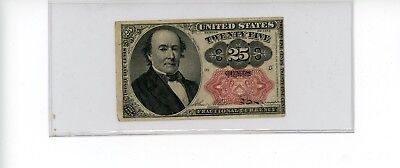 1874 TWENTY FIVE CENT 25c FRACTIONAL CURRENCY NOTE 5TH ISSUE FR# 1309