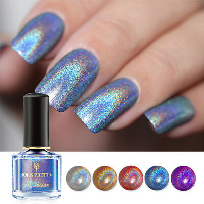 BORN PRETTY Flourish Holographic Nail Polish Laser Glitter Varnish 6ml