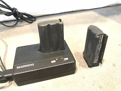 Shimano Di2 Battery Charger SM-BCR1 and 2 Batteries