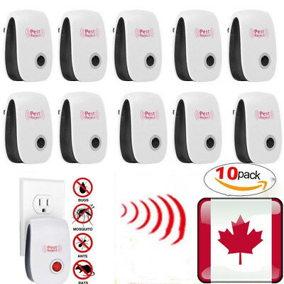 10PK Electronic Ultrasonic Pest Reject Mosquito Cockroach Mouse Killer Repeller