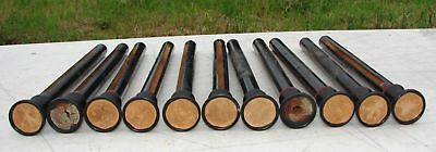 11 Wood Stop Pulls Knobs from Antique Dyer Pump Organ Parts Repurpose Crafts