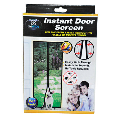 Uniwide Instant Single Door Screen Magnetic Mosquito/Insects/Bugs Free Curtain