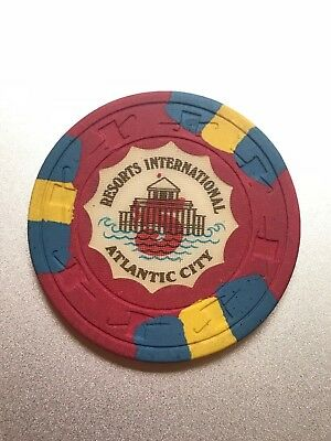 $5 Resorts International Chip Casino Chip Atlantic City Poker Gambling Token