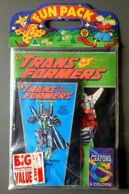 Vintage TRANSFORMERS Gen2 FUN PACK- Colouring Book etc-Confectionary Advertising