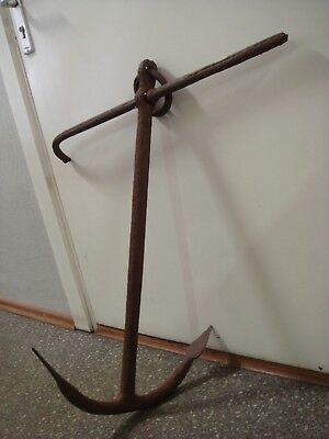 Old Antique Iron Anchor Blacksmiths Work Ship Boat (Nr.324)