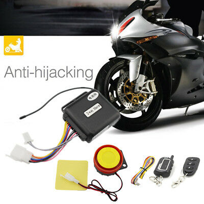 2 Way Motorcycle Security Alarm Immobilizer Kit Remote Engine Start Anti Cutoff