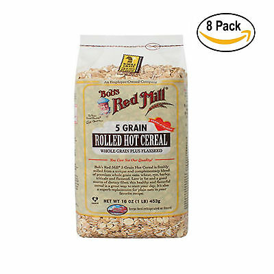 BOBS RED MILL, CEREAL 5 GRAIN ROLLED, 16 OZ, ( Pack of 4 x 2 )