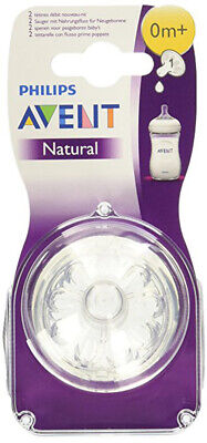 NEW Philips Avent BPA Free Natural Newborn Flow Nipples 2 Pack